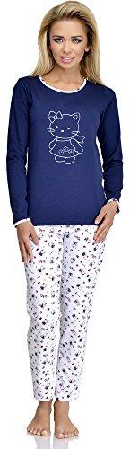 Merry Style Pyjama Femme 211 DunkelBleu