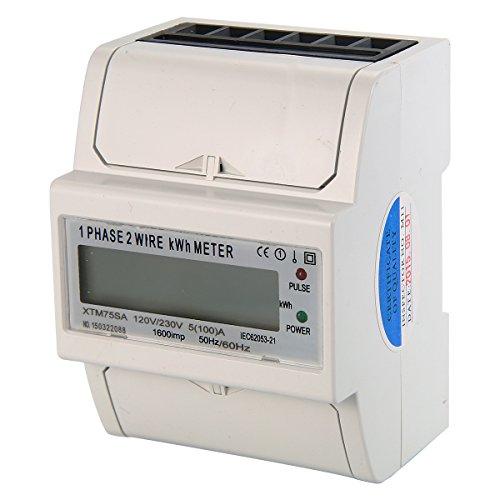 XCSOURCE 50Hz 230V 100A Fase 1 metro de la energía del LCD Fase medidor único de DIN-Rail BI105
