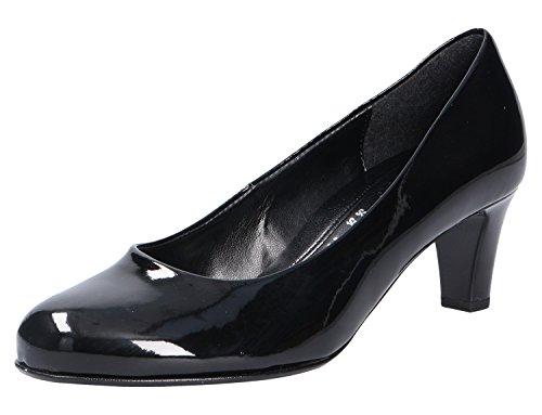 Gabor Nesta Womens Leder Kleid Pumps 6.5 UK/ 40 EU Black Patent Hi-Tec Black Patent-leather Pumps