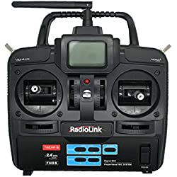 Emisora RC de 2.4GHz con 6 Canales con emisor y receptor para Avión Helicoptero Barco etc de Radiocontrol 2695