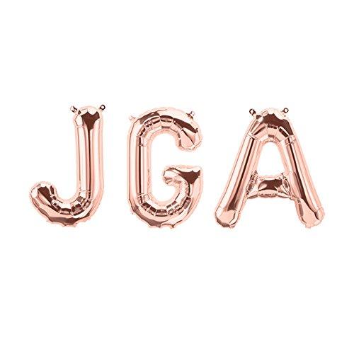 JGA Folien-Ballons/Buchstaben-Ballons/Luft-Ballon Schriftzug in Rosé-Gold - Höhe 35cm - 1 Stück - Deko Junggesellinnen-Abschied/Hochzeits-Zubehör/Dekoration Luft-Ballons Hen-Party
