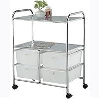 Metlex , Storage Rack On Wheels Portable 4 Drawer Trolley Home, MX3049