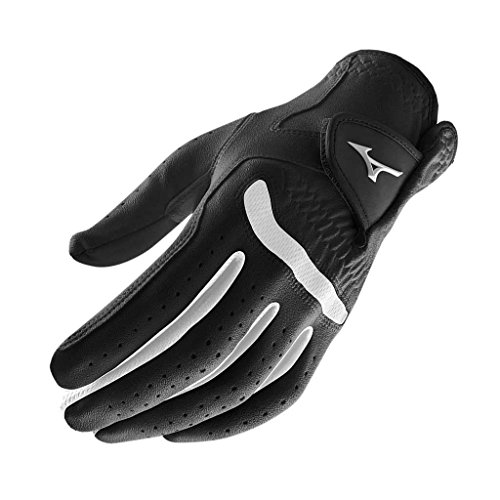 **Pack of 1** Mizuno 2015 All Weather Comp Mens Golf Gloves Left Hand (Right Handed Golfer) Black/White Large