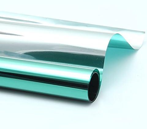 DiversityWrap Green Solar Reflective One Way Mirror Window Film Privacy Sticker Glass Tint 76cm (1m x76cm (39.37