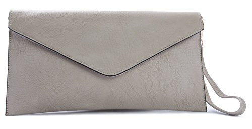 Big Handbag Shop - Borsetta senza manici donna (beige)