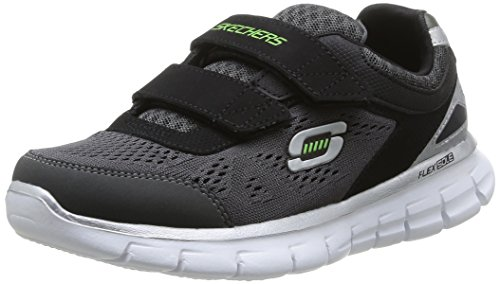 Skechers Synergy, Boys' Running Shoes, Black/Charcoal, 13 UK Child, 32 EU