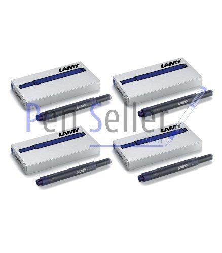 Preisvergleich Produktbild Lamy T10: Vier Päckchen mit 5 Tintenpatronen, Farbe: blau-schwarz (insgesamt 20 Tintenpatronen)
