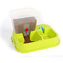 WEILI comederos para mascotas automáticos plástico verde activistas durable gato automático y alimentador del perro , green