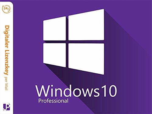 Windows 10 Professional 32/64 Bit |1 PC Lizenz | Download Original Microsoft Windows 10 Professional Product Key Digital 24/7 per Mail von JP Trading (Windows Enterprise)