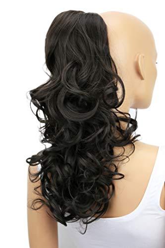 PRETTYSHOP Haarteil Zopf Pferdeschwanz Haarverdichtung Haarverlängerung VOLUMINÖS (55cm braun #8 PH11)