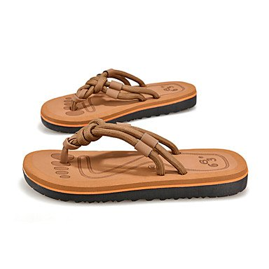 Uomo Slippers & Primavera Estate Autunno Comfort Light Suole PU esterna piana casuale HeelWalking Sh sandali US7 / EU39 / UK6 / CN39