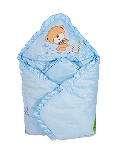 Mee Mee Baby Warm Wrapper cum Blanket with Hood (Light Blue)  available at amazon for Rs.769
