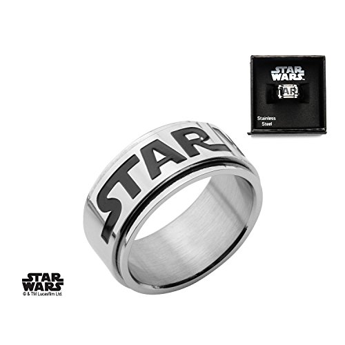 Star Wars Men's Stainless Steel Spinner Ring Size 12