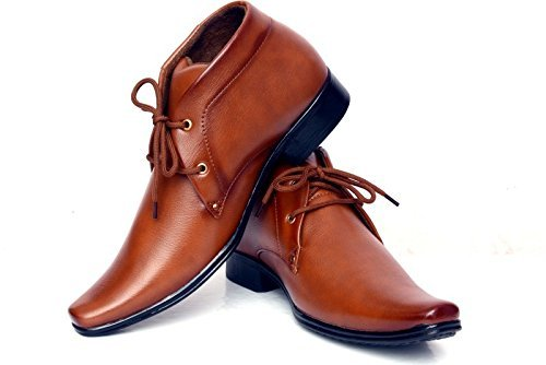 Shoe Rock Vision Men's Brown Synthetic Leather Formal Shoes -8