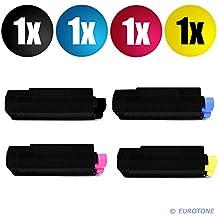 4x Rebuilt Toner für OKI C3100 C3200 C5100 C5200 C5250 C5450 5300 5400 C5510 C5540 MFP