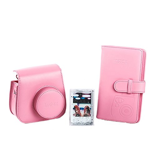 Fujifilm 70100138066 Kit Accessori per Fotocamera Instax Mini 9 Flamingo Rosa