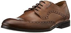 Ruosh Mens Tan Leather Formal Shoes - 10 UK/India (44 EU)