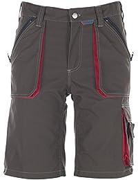 Planam Shorts Basalt, größe L, oliv / rot / mehrfarbig, 2843052
