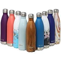 MIRA vakuumisolierte Wasserflasche aus Edelstahl | Schlanke auslaufsichere doppelwandige Flasche | Hält Getränke 24 Stunden lang kalt & 12 Stunden warm