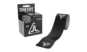 TRUETAPE Athlete Edition | vorgeschnittenes Kinesiologie Tape | 20 Precut Streifen Pro Rolle | CE Zertifiziert | Aufbewahrungsbox | 40 Anleitungen