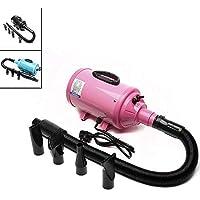 Dawoo Stepless, secador de Pelo con Velocidad Ajustable para Mascotas, secador de Pelo, soplado de una máquina de Aseo con Calentador - (Pink)