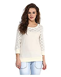 Yepme Norah Lace Sweatshirt - Off-White -- YPMSWEAT5106_L