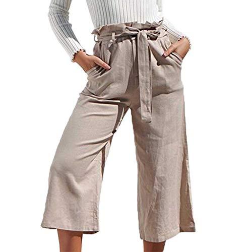 cdd79d73af4f2 SANFASHION Pantalons - Pantalón - para Mujer Beige Bow L