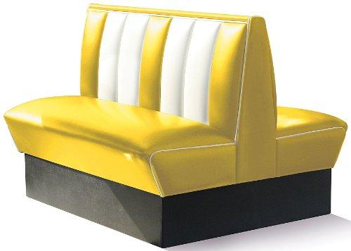 BelAir Eckbank Dinerbank Sitzbank Bank Einrichtung Gastronomie Dinermöbel Lounge (Yellow/White)