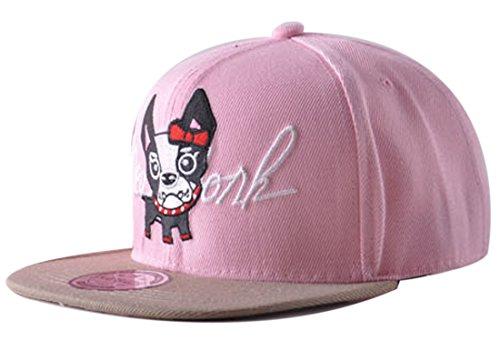 Belsen Kind Hip-Hop Karikatur Hündchen Cap Baseball Kappe Hut Truckers Hat (Kind, Rosa) Hip Hop Trucker Hats