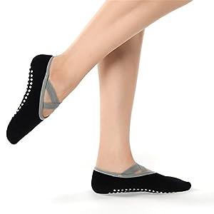 Maybesky Yoga Socken Baumwolle PVC Anti-Rutsch-Socken unten geeignet für Frauen im Sommer Pilates, Anti-Rutsch-Slip-Socken