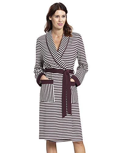 Rosch 1193511-12600 Women's Smart Casual Ruby Red Striped Cotton Robe 40 - Red Soft Robe