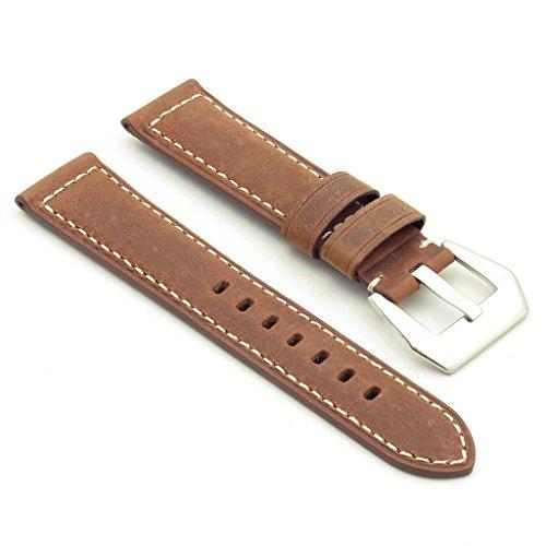dassari-salvage-bande-pour-montre-classique-en-cuir-pour-panerai-ocre-24-22-24mm