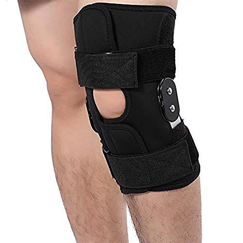 QYHSS Knieorthese, Verstellbare Kniebandage, für nach der Operation, mit Scharnier, Einheits-Beingröße, Meniskusrisse, Sportverletzungen, ACL, Sport Trauma, Verstauchungen, Arthritis, L -