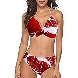 Bikinis Mujer 2019 Push up con Relleno Mujeres Sujetador Conjunto de Traje de BañO Coincidencia de Colores Bohemio BañAdores Ropa de Dos Piezas para Playa vikinis riou