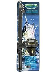 AK Sport GOF Tele de lanzado Angel 1, 60m + zub- lanzamiento de cañas, Negro, One size