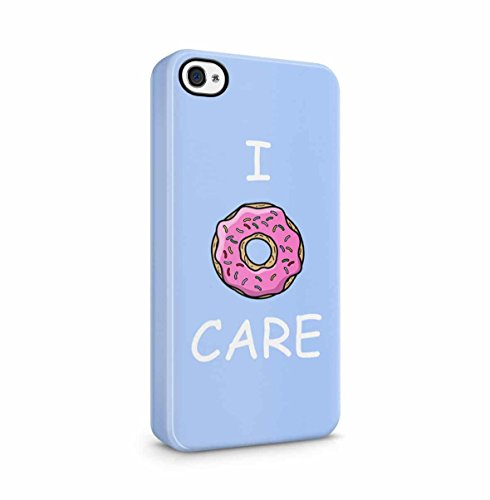 I Donut Care Donuts Pattern Print Apple iPhone 5 , iPhone 5S , iPhone SE Snap-On Hard Plastic Protective Shell Case Cover Custodia Donut Care