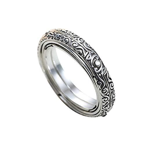JYJM Öffnender Ring Astronomical Globe Ring Vintage Wissenschaft Schmuck Gedenkring Lifestyle-Ring Ehering Fashion Schmuck, Innendurchmesser