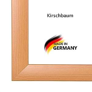 Bilderrahmen PN35 40x166 oder 166x40 cm in KIRSCHBAUM AntiReflex Kunstglas und Rückwand, 35 mm breite MDF-Leiste mit Dekor Folienummantelung