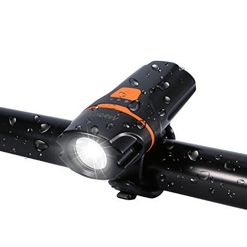 LED bicicletta luce,luci per Bicicletta,Luce Bici Anteriore, Movaty USB ricaricabile bicicletta illuminazione 2600mAh batteria al litio, 500lm fari anteriori luci,Impermeabile