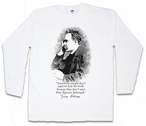 Friedrich Nietzsche Illusions Long Sleeve T-Shirt - Sizes S – 2XL