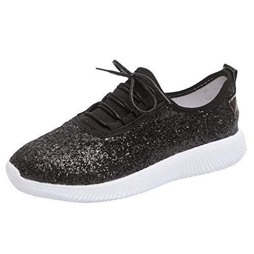 Saihui Damen Sportschuhe Luftkissen Sneaker Dämpfung Rutschfest Laufschuhe Air Turnschuhe Running Fitness Sneaker Outdoors Straßenlaufschuhe (EU:41, Schwarz)
