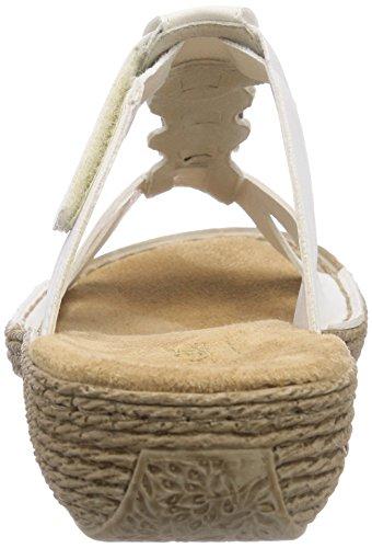 Rieker Konstanze K5596, Chaussures mixte enfant Blanc - Weiß (weiss / 80)