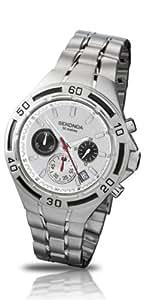 Sekonda Chronograph White Dial Steel Bracelet Gents Watch 3395