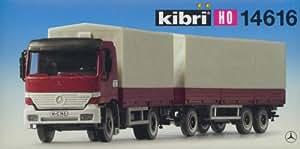 Kibri 1/87 ho : Kit Camion bâché MB Actros + remorque