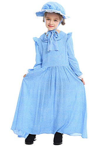 ionier Colonial Bauer Kostüm, Viktorianische Maid Kostüm Märchen Prinzessin Kostüm viktorianischen Prärie Kleid XS ()