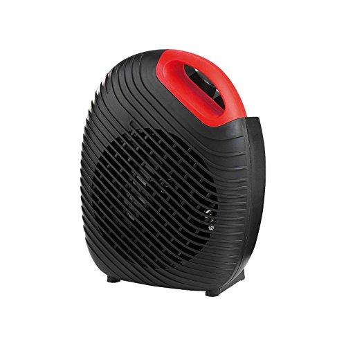 2in1 Heizlüfter und Ventilator mit starken 2000 Watt 2 Heizstufen (mobile Elektro Heizung, Lüfter, regelbarer Thermostat, Tragegriff, Überhitzungsschutz)