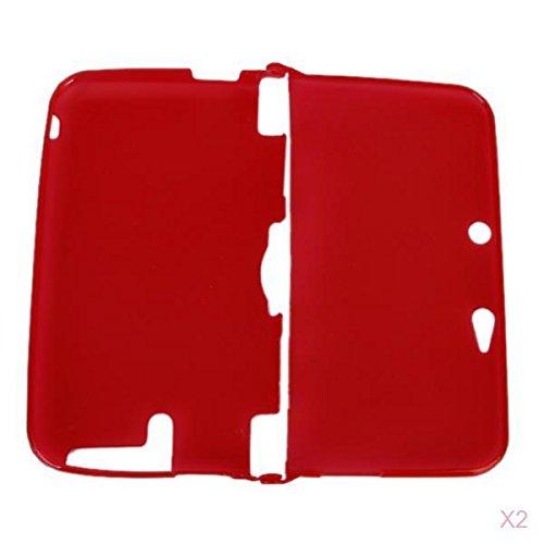 Cubierta De La Funda De Silicona Protectora Para Nintendo 3DS LL XL - Rojo Claro