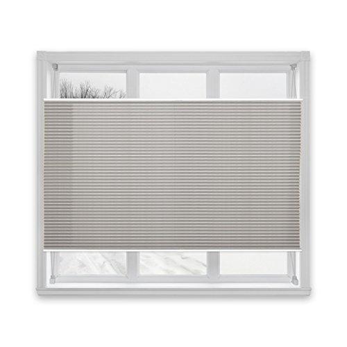 casa pura® Plissee Rollo | mit eleganter Crushed Optik | Klemmfix ohne Bohren | lichtdurchlässig & blickdicht | dunkelgrau | 8 Größen (75x200cm)
