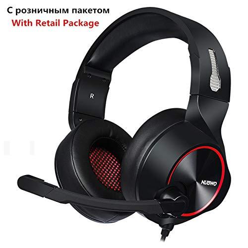 IN THE DISTANCE PC-Gamer-Headset USB 7.1-Kanal-Sound Bass Casque Computer Gaming-Kopfhörer Mit Mikrofonen LED-Licht (Color : Red Retail Box) Headset Retail-box