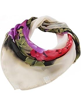 VENMO Abrigo de la Mujer Peony Flor Impresión Gasa Profesional Plaza Cabeza de Bufanda Pañuelo Cuello Chal